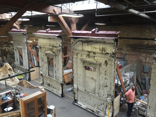 Pieces of the old Madison-Wabash CTA El Station were auctioned off last week. (Rebuilding Exchange)