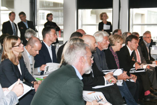 """The jury of the architectural competition """"Bauhaus Museum Dessau"""" during the jury meeting on 3 September 2015. (Photo: Bauhaus Dessau Foundation)"""