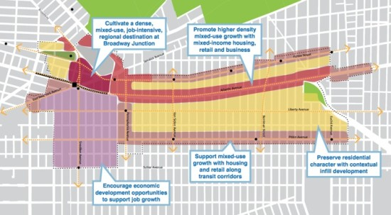 Proposed rezoning under the East New York Community Plan (Courtesy NYC Planning)