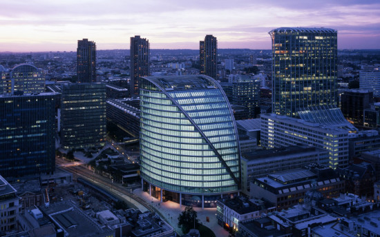 Moor House, London, completed in 2005. Courtesy fosterandpartners.com