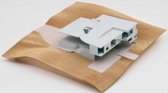 A model of the Torus House in Old Chatham, New York, by Preston Scott Cohen.