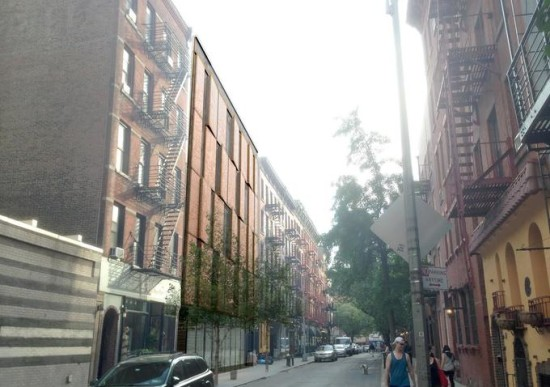 Rendering looking south on Cornelia Street. Courtesy of Kliment Halsband Architects