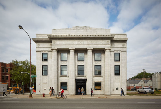 The opening of Theaster Gates' Stony Island Arts Bank on Oct. 3 is one of the Chicago Architecture Biennial's debut events. (Tom Harris © Hedrich Blessing, Courtesy of Rebuild Foundation)