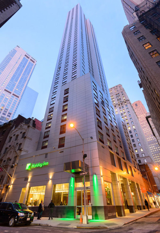 Holiday Inn Manhattan-Financial District at dusk (Ralph D'Angelo)