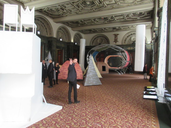 Syracuse professor Kyle Miller takes in the main event at the Chicago Cultural Center. (Matt Shaw/AN)