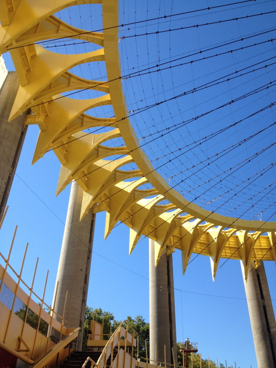 Philip Johnson's 1964 New York State Pavilion (Courtesy Brendan Crain)