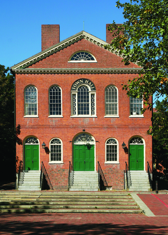 Old Town Hall, Salem, Massachusetts, 1816.