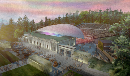 Rios Clementi Hale Studios' rendering of the Greek Theater.
