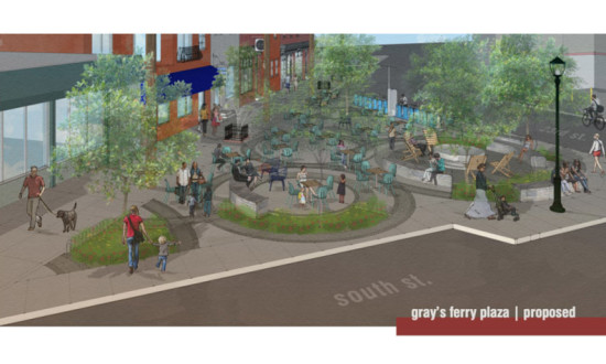 Proposed design for Grays Ferry Plaza (Courtesy Bergmann Associates)