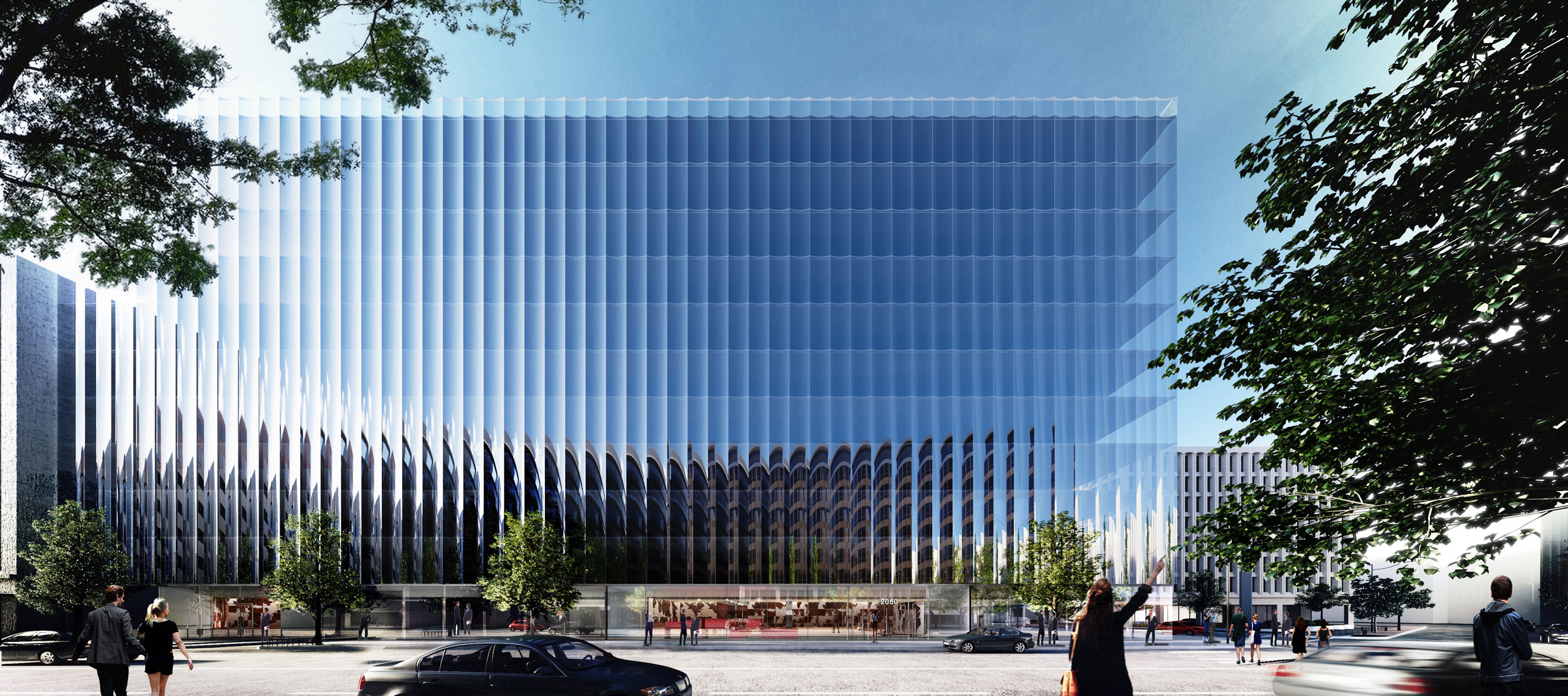 Office Building Architecture rex unveils a fluted glass office building in washington, d.c.