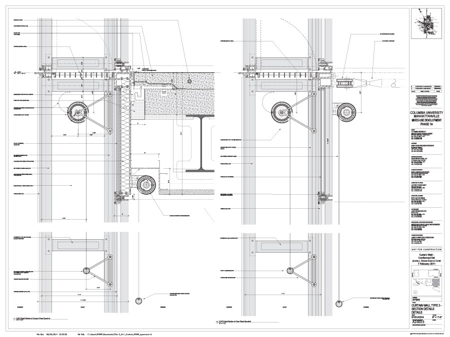 A2 503 5 Curtain Wall Type 3 Section Details Archpaper