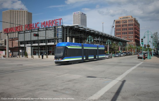 Proposed Milwaukee Streetcar in the Third Ward neighborhood of Milwaukee. (Milwaukee Streetcar)