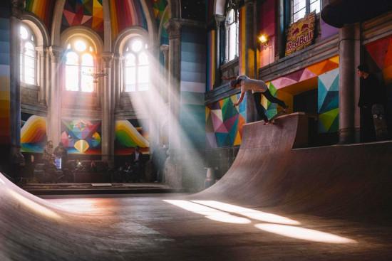 Skating in Kaos Temple (Courtesy Red Bull Media)