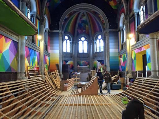 Transforming Kaos Temple (Courtesy La Iglesia Skate)