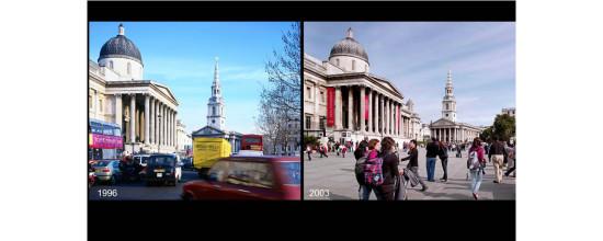 Development of Trafalgar Square in London (Courtesy LSE)