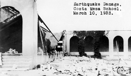Seismic events have plagued Southern California throughout history. (Orange County Archives / Flickr)