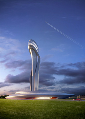 Tulip inspired ATC Tower. (Courtesy Pininfarina)