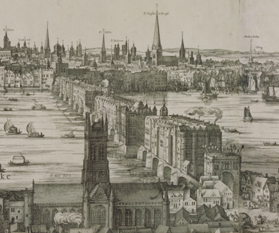 London Bridge and Southwark Cathedral (Courtesy London Metropolitan Archives)