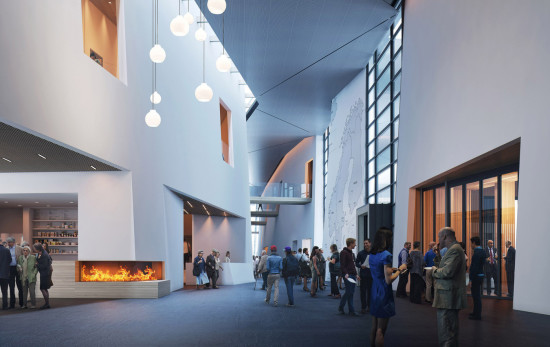The Nordic Heritage Museum entrance lobby. (Courtesy Mithun/MIR)