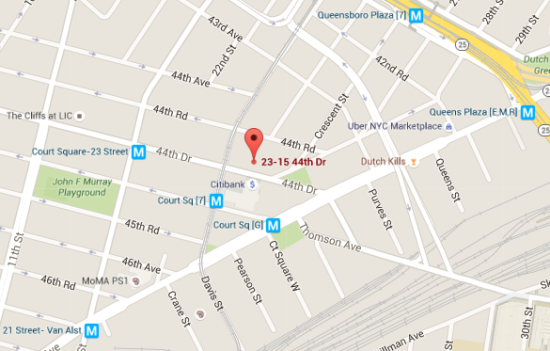 The tower will be built at 23-15 44th Drive in Long Island City. (Google Maps)