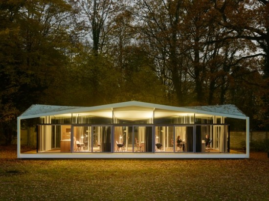 Fellows Pavilion, American Academy in Berlin, 2015, Barkow Leibinger. (Stefan Muller)