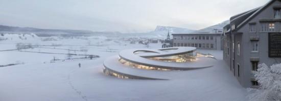 Audemars Piguet Museum, designed for Switzerland, 2014. (Courtesy BIG)
