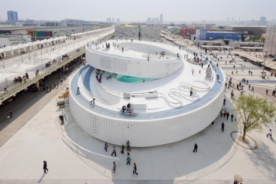 The Denmark Pavilion at the Shanghai Expo 2010. (Iwan Baan / Courtesy Serpentine Galleries)