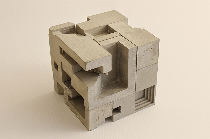 David umemoto s scaled down brutalist city scapes
