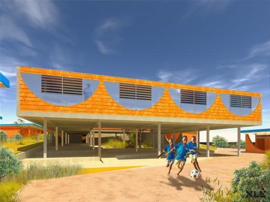 Black Rhino Academy, Tanzania, 2014, Kunlé Adeyemi – NLÉ. (Courtesy Kunlé Adeyemi – NLÉ)