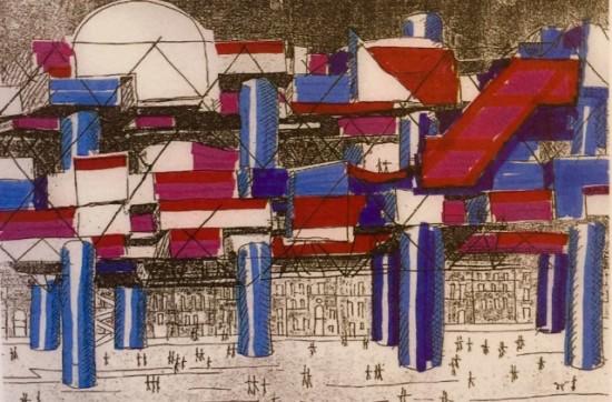 Drawings of La Ville Spatiale, 1958, Yona Friedman. (Courtesy Yona Friedman Archives)