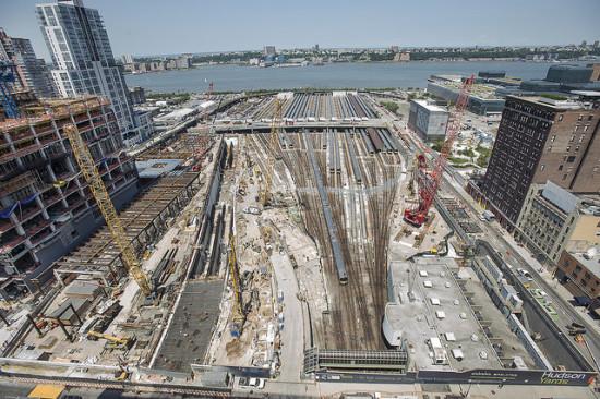 Construction at Hudson Yards. (MTA / Flickr)