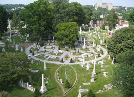 Founded in 1836, Philadelphia's Laurel Hill Cemetery is the country's second oldest rural cemetery. (Laurel Hill archives / TCLF)