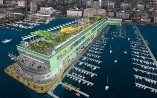 Rendering of Pier 57. (Courtesy Pier 57)