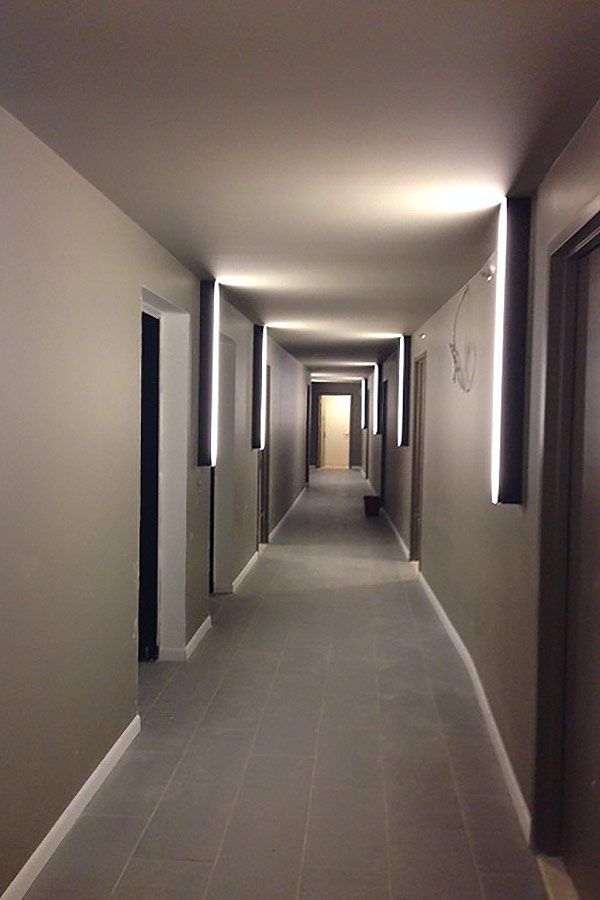 Apartment Building Hallway Lighting wonderful apartment building hallway lighting york with rack to on