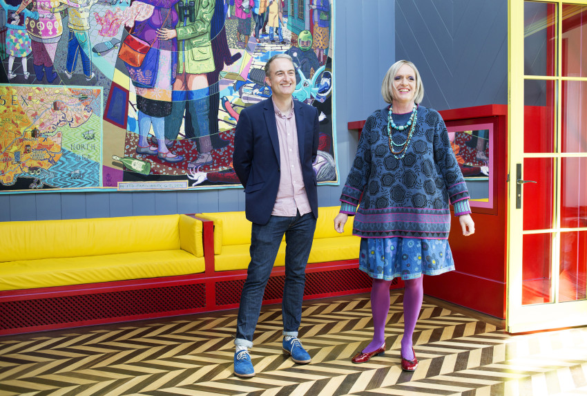 Charles Holland and Grayson Perry (Courtesy Jack Hobhouse)