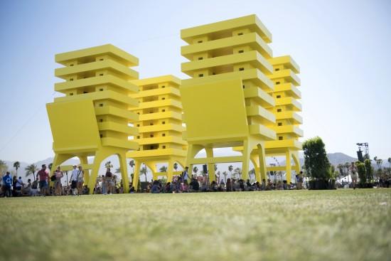 Katrina Chairs art at Coachella, Courtesy Goldenvoice.