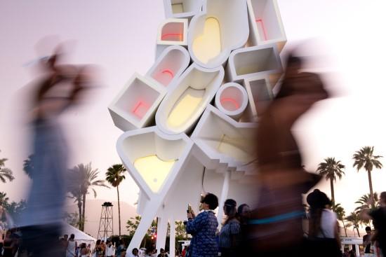 Tower of Twelve Stories at Coachella, Courtesy Goldenvoice