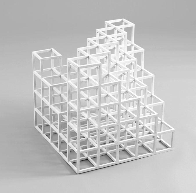 Grid jumper for Sol lewitt art minimal