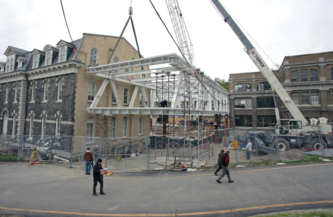 Milstein hall hangs tight at cornell - Cornell university interior design program ...