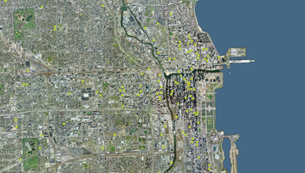 Students At The Art Institute Of Chicagou0027s Architecture Program Mapped The  Dozens Of Green Roofs Dispersed Across That City.