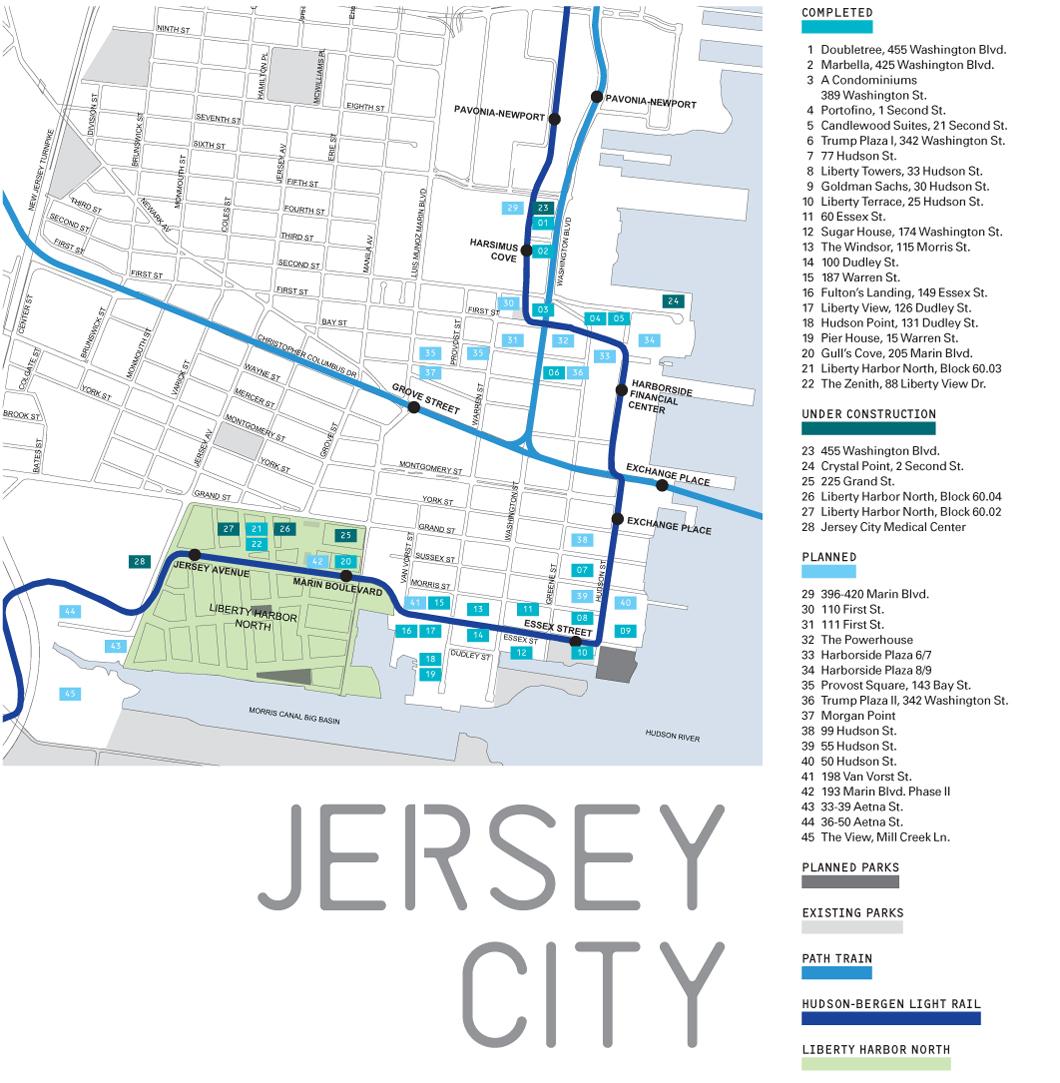 Jersey City Archpapercom - Map of jersey city