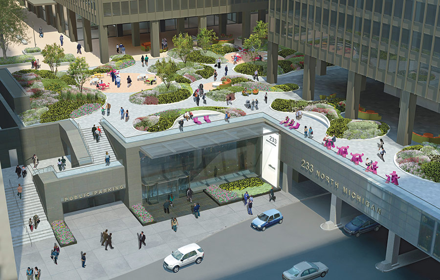 Landscaping Aims To Make A Mies Plaza Feel Like A Lush Park. Courtesy Ted Wolff  Landscape Architects ...