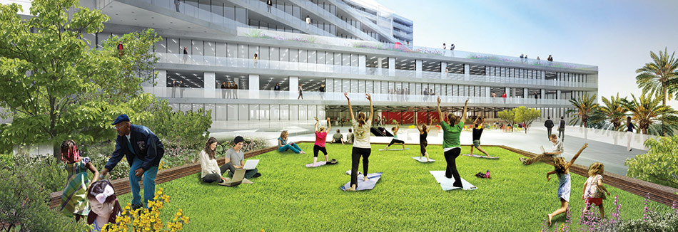Pocket Parks Lining The Fourth And Fifth Street Edges Will Provide Open  Spaces And Mark Entrances To The Over 400,000 Square Feet Of Commercial  Space, ...