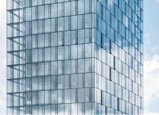 Closeup view of the facade, © Festo AG
