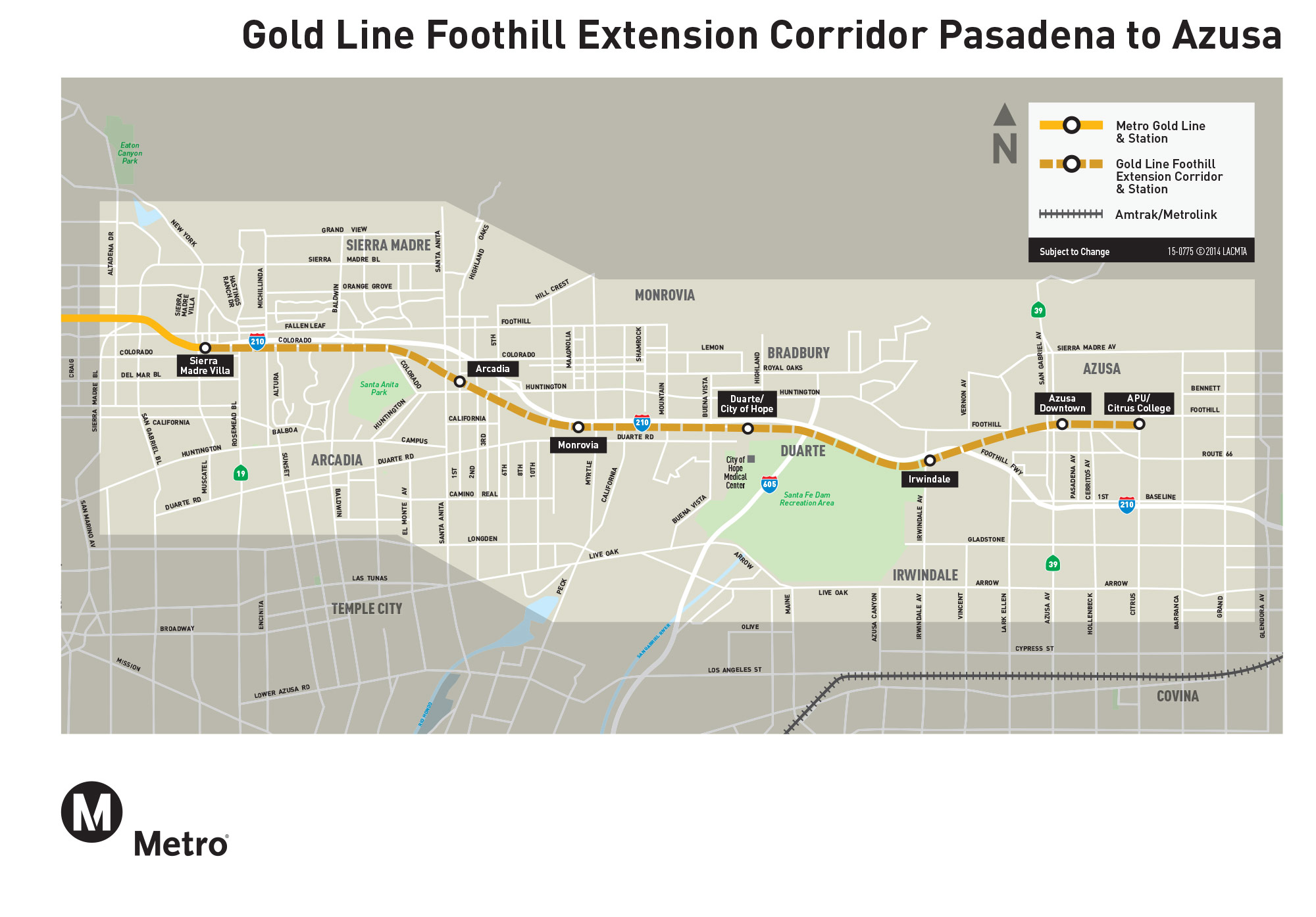 LA Metro Completes Gold Line Extension To Azusa Archpapercom - Los angeles metro expansion map