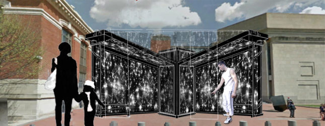 The Installation of 6 Million Stars uses both digital and physical means to engage people in the memorialization of Holocaust victims (Courtesy of the National Park Service)