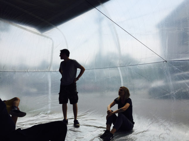 Callicoon inflatable interior (Courtesy Jesse Seegers)