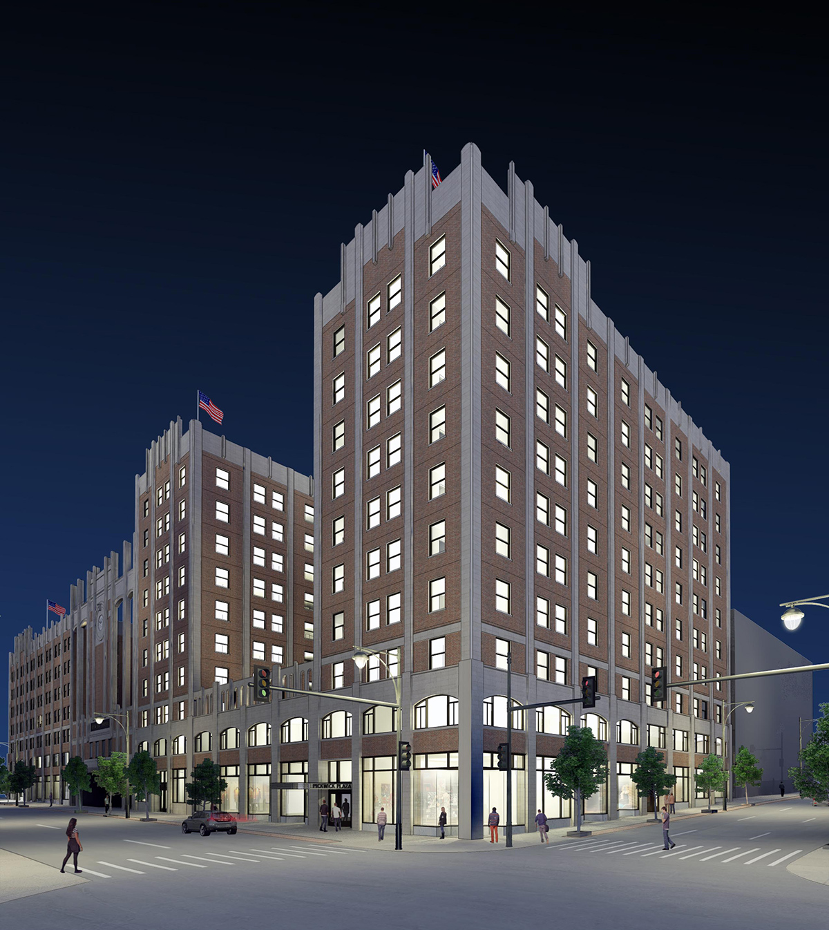 Helix Architecture Design Project Crossroads Parking: Kansas City's Pickwick Plaza Hotel Undergoing Major