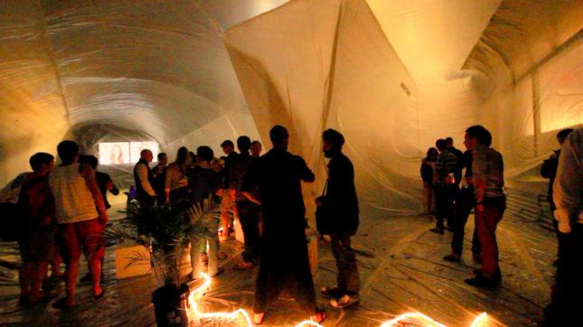 Potlatch pavilion night party (Courtesy Jesse Seegers)