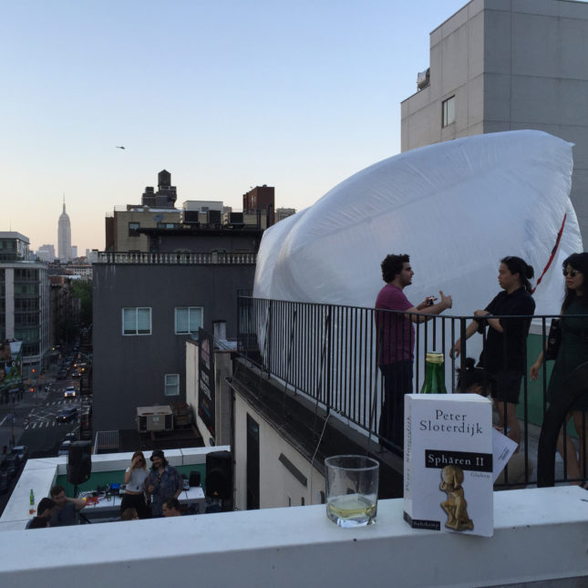 SoHo rooftop evening inflatable (Courtesy Jesse Seegers)